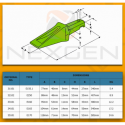Bucket teeth adapter - J300 / CAT - 3G6304 6W1304