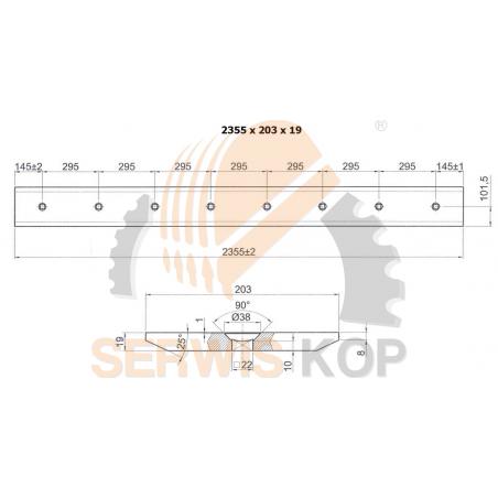 Ząb środkowy JCB 3CX 4CX - NOWY MODEL / VOLVO BL61 BL71