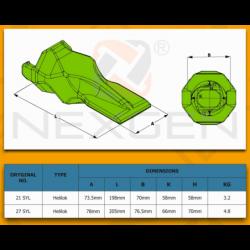 Filtr ssawny oleju hydrauliki / JCB 3CX 4CX FATRAC - 32/920300