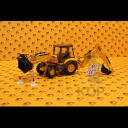 Model koparko-ładowarki JCB 3CX Contractor / Skala 1:25