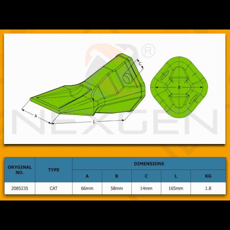 Tuleja - mocowanie siłownika obrotu / JCB 3CX 4CX