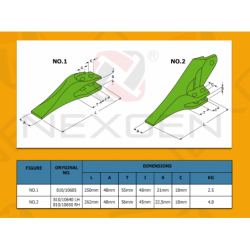 Ząb lewy do maszyn HIDROMEK - 810/10640