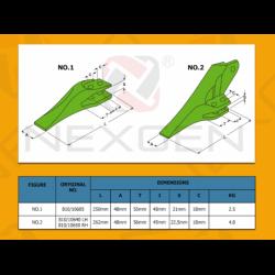 Tooth R/H HIDROMEK - 810/10650
