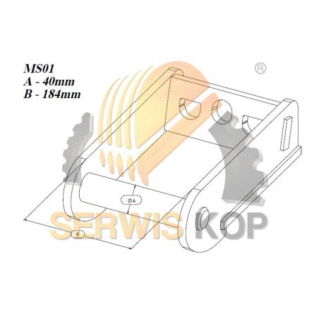 Łyżka koparkowa JS160 80CM - 0,57 Cubic - HB500