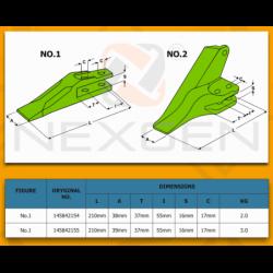 Bezpiecznik 50A / Maszyny JCB - 717/11050