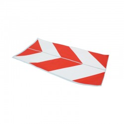 Decal chevron red/white / JCB 3CX 4CX - 817/03401